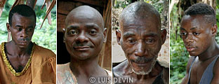 Pygmy men (portraits)