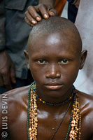 Bakota boy during the circumcision rite