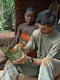 Making of a basket (Baka Pygmies, Cameroon)